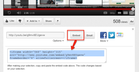 embedding youtube image